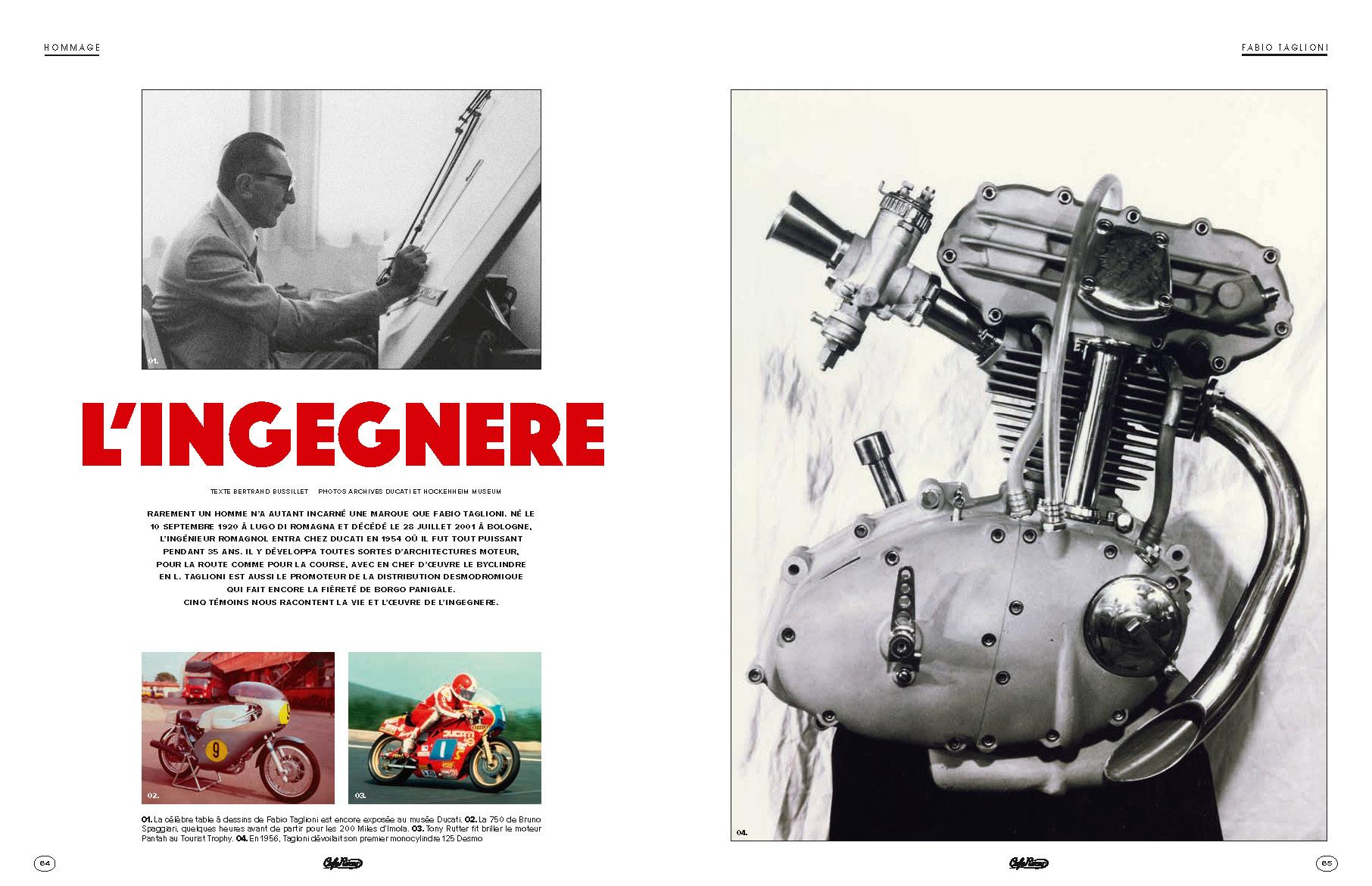 Fabio Taglioni, l'ingénieur qui a façonné Ducati.